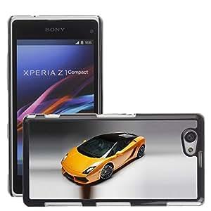 CarCase Slim Case Cover Backcover Frame Shell Sony Xperia Z1 Compact // 2011 lamborghini gallardo bicolore //
