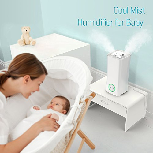 Cool Mist Humidifier Upgraded Ispecle 2 5l Filter Free Ultrasonic Air Humidifiers For Bedroom