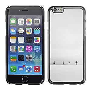 FECELL CITY // Duro Aluminio Pegatina PC Caso decorativo Funda Carcasa de Protección para Apple Iphone 6 // Winter Snow Grey White Trees Minimalist