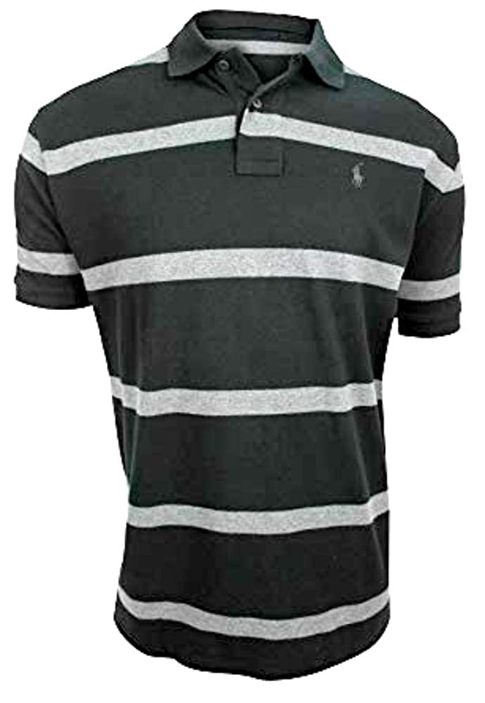 e51bc8ffee038 Polo Ralph Lauren Men s Big   Tall Stripe Mesh Pony Shirt at Amazon Men s  Clothing store