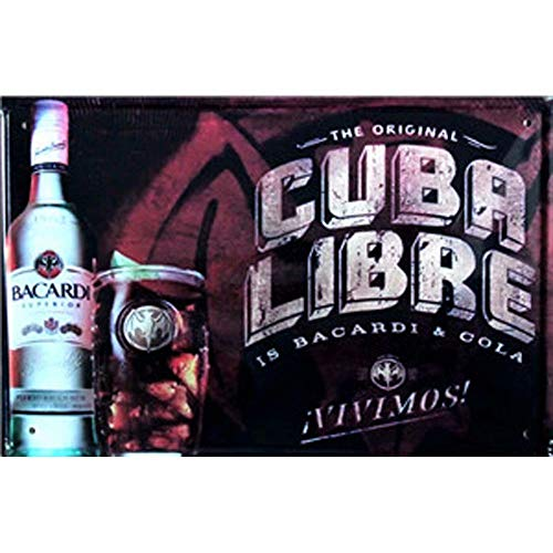 FlowerBeads Personalized Metal Signs Tin Poster, Beer Wine Vintage Decorative Wall Plaques Tavern Bar Pub Shop Decor Cuba Libre 12