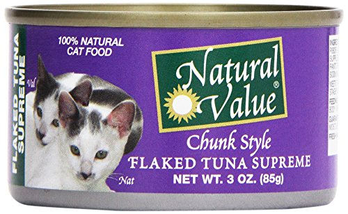 Natural Value, Cat Food, Flaked Tuna, 3 oz by Natural Value