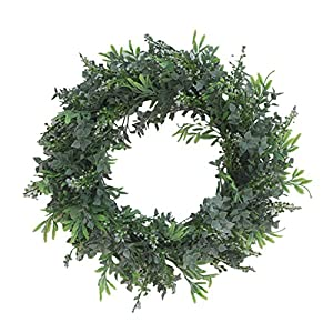 Yiwa Flower Wreath 40M Length Simulation Fern Leaf Green DIY Garland Head Ring 13