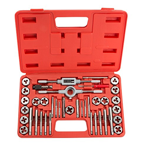 TEKTON 7559 Tap and Die Set, Metric, 39-Piece (Thread Tap And Die Set)