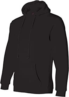 product image for Bayside Adult Pullover Matching Drawstring Hooded Sweatshirt, Black, XXXX-Large