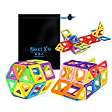 NextX Educational Building Blocks sets,56 Pieces Magnetic Building sets toys for 3 years old boys and girls