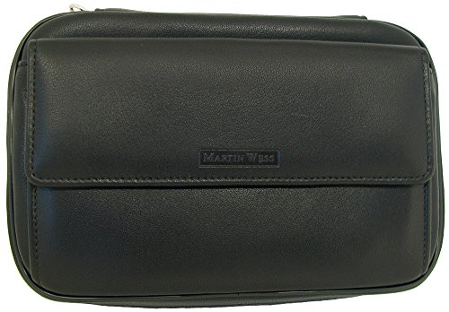 Martin Wess Germany ''Lea'' Soft Lamb Nappa Leather 4 Pipe Bag Case with office Compartment by Martin Wess