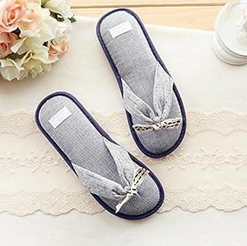 Vintage Denim azul algodón flip-flops en casa limpiar zapatillas Casa: Amazon.es: Deportes y aire libre