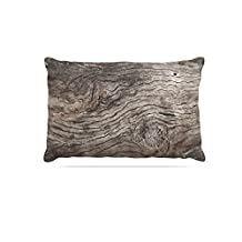 "Kess InHouse Susan Sanders ""Tree Bark"" Brown Wooden Fleece Dog Bed, 30 by 40"""