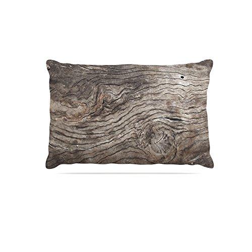 Kess InHouse Susan Sanders Tree Bark  Fleece Dog Bed, 50 by 60 , Brown Wooden