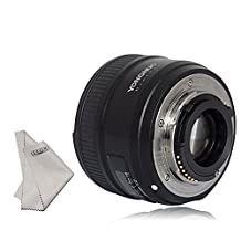 YONGNUO yn35mm F2.0 Lens F2N 1:2 AF MF Wide-Angle Fixed Prime Auto Focus +INSEESI Clean Cloth for Nikon cameras (Replacement for NIKKOR 35mm f/1.8G)