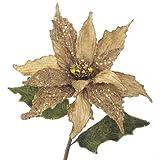 RAZ Imports - Gold Glittered Poinsettia Stem 24''