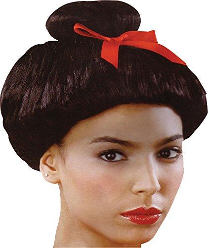 Bristol Novelties Women's Accessory Geisha Japanese Short Fake & Artificial Wig One Size Black -