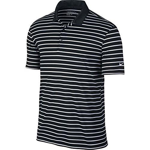 Coty Sweet - Nike Golf Men's Icon Stripe Polo (Black/White) (Small)