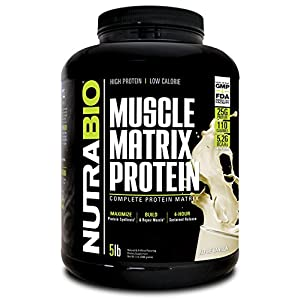 NutraBio Muscle Matrix Whey Protein Blend (Vanilla, 5 Pounds)