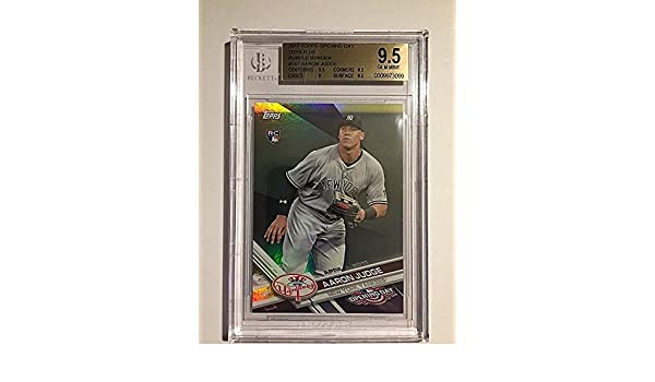 2017 Topps Opening Day Toys R Us Purple #147 Aaron Judge RC BGS GEM MINT 9.5 at Amazons Sports Collectibles Store