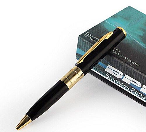 Pen Camera Bundle HD 1280 * 960 with 3240 * 2880 Photo Resolution, Video, Audio & Pictures + Free 8GB microSD card + 5 pen refills Sundasim