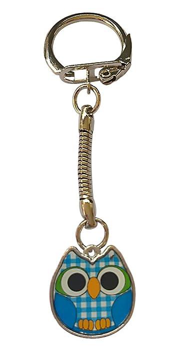 Azul Llavero de búho: Amazon.es: Joyería