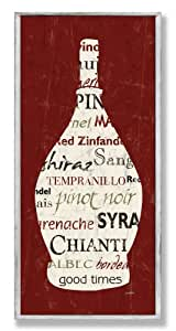 The Stupell Home Decor Collection Wine Bottle Brown Wall Plaque