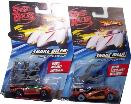 Speed Racer 1:64 Snake Oiler Race Car & Snake Oiler Street Car (Set of 2) ()
