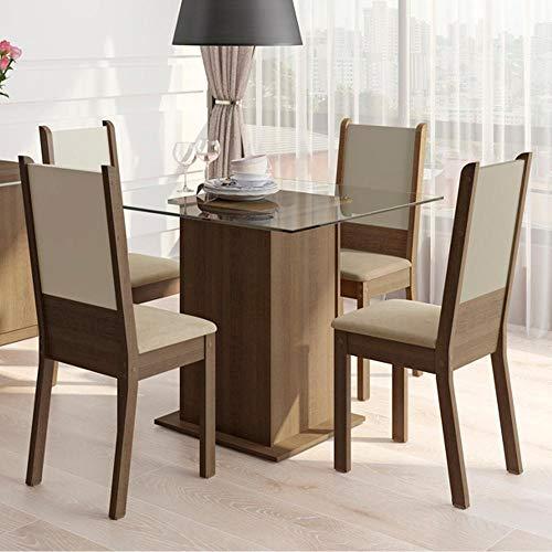 Conjunto Jantar Madesa Tampo Cadeiras