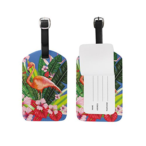 Price comparison product image Flamingo Bag Tags Luggage Travel Labels Tag for Baggage Suitcase