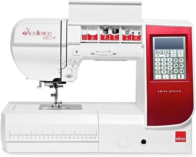 ELNA Excellence 680 Plus Computer Máquina de Coser roja Diseño ...