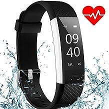 Fitness Tracker Watch ANEKEN Activity Tracker with Heart Rate Sleep Monitor IP67 Waterproof Smart Bracelet Pedometer Wristband Smart Watch for Kids Women and Men, Android & iOS Smart Phones