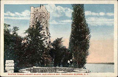 Alster Tower-Heart Island, Alexandria Bay Thousand Islands, New York Original Vintage Postcard
