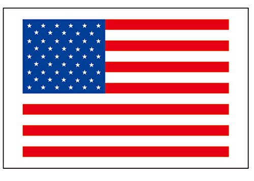 6 Large American Flag Tattoos, US United States of America Party Favors ()