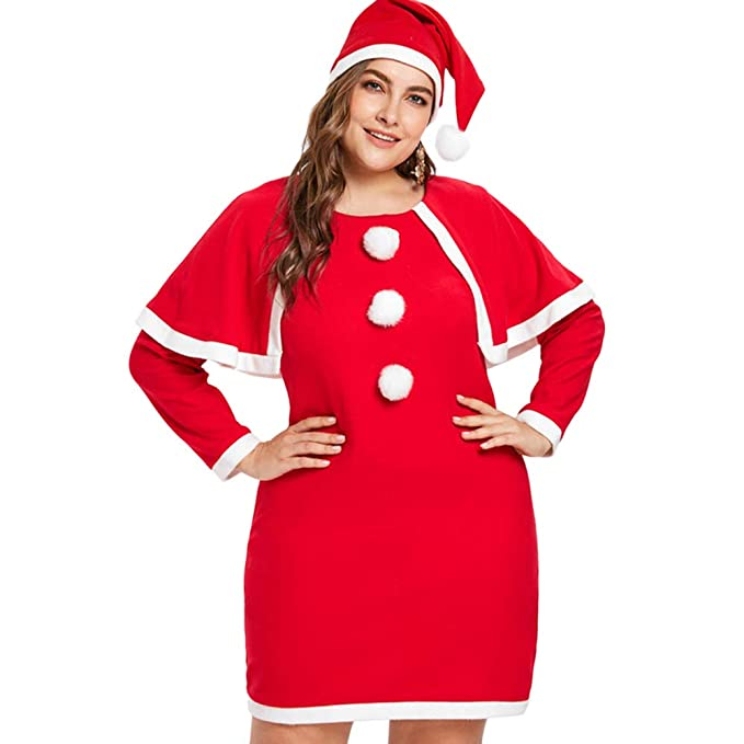 Amazon.com: Eleviey - Disfraz de Papá Noel de manga larga ...