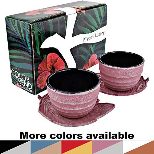 - KIYOSHI Luxury Japanese Cast Iron Tea Cups Set 4 pieces - 2 Large Teacups (4,06Oz) + 2