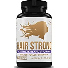 Hair Health Growth Vitamins with Biotin & Keratin - 60 Veggie Capsules. Extra Strength Supplement for Longer Stronger Hair, Skin, & Nails. For Women & Men - For Damaged, Thinning & Hair Loss Regrowth
