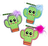DollarItemDirect 4'' Cactus Notebook with Feather Pen, Case of 144