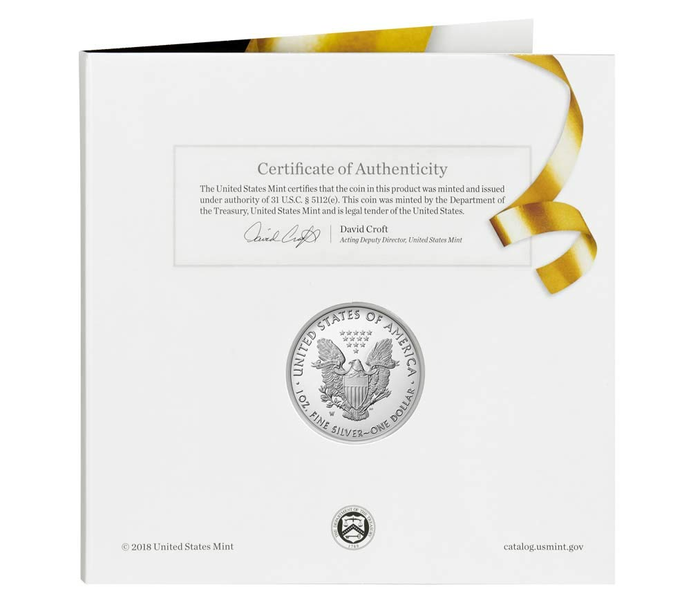 2019 W American Silver Eagle One Ounce Silver Congratulations Set $1 Proof US Mint