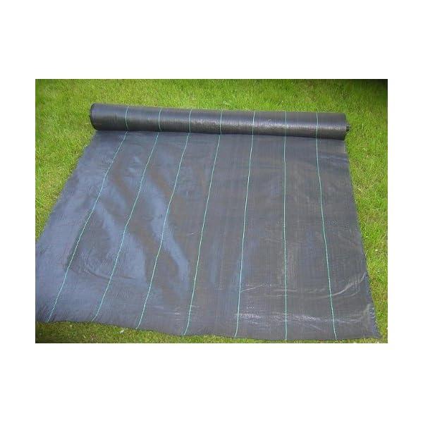 Haga® Tessuto 0,6m BR. 100G/M² erbaccia Schermo pacciamatura (al metro) 3 spesavip