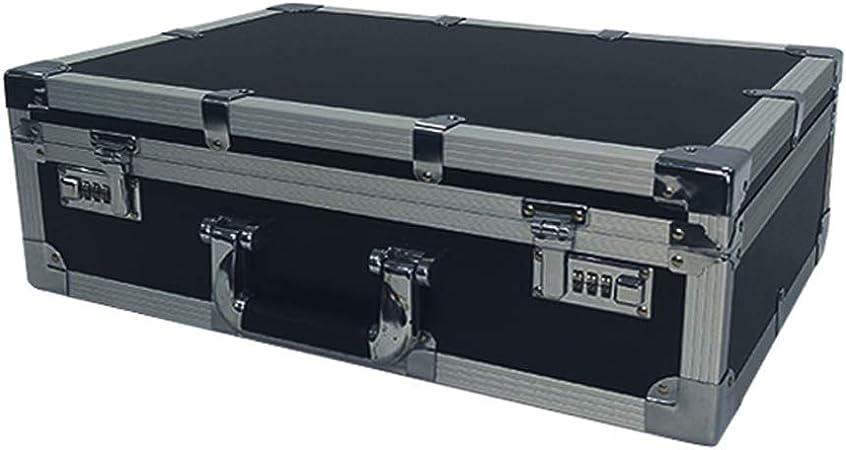 Creative Light Global - Caja De Herramientas De Aluminio para Caja De Vuelo Caja De Almacenamiento De Aluminio Portátil A Prueba De Golpes Pequeña para Viajes, Negro: Amazon.es: Hogar