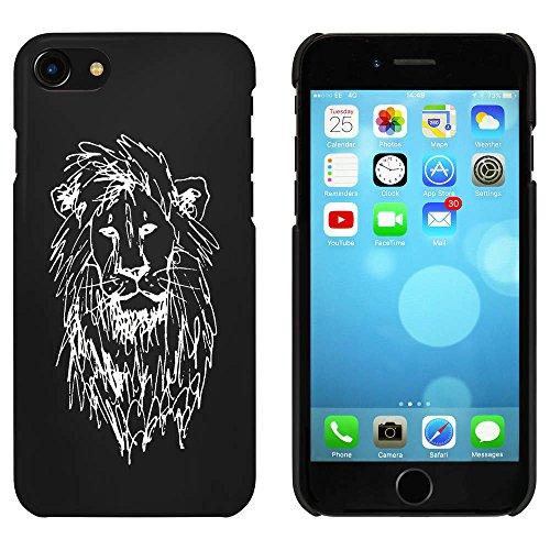 Noir 'Tête de Lion' étui / housse pour iPhone 7 (MC00076861)