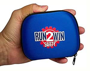 Run2Win Safety, 100-Piece Mini First Aid Kit, Small Durable & Lightweight, Ideal for Hiking Travel Car Boat or Camping, Fully Stocked USA Fresh Medical Supplies, Portable Compact Basic Survival Bag