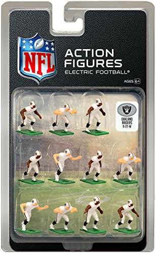 Electric Football - Oakland Raiders Away Jersey NFL Action Figure Set