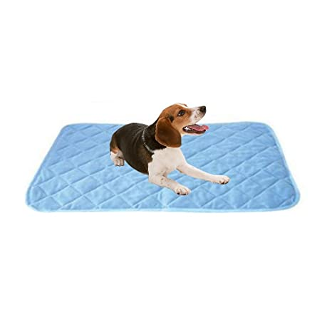 Pawaca Pet Mat Pad, Keep Cool Summer Sleeping Bed para perros Pets Puppy, perfecto para Kennels, camas para mascotas