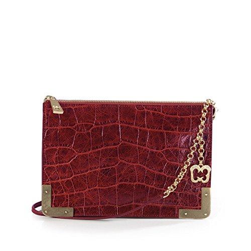 Eric Javits Luxury Fashion Designer Women's Handbag - Perkins II - Red by Eric Javits