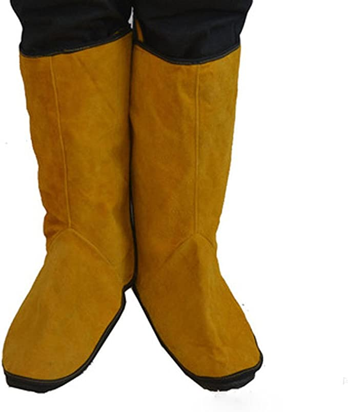 Leather Welding Shoe Spats Protectors Welder Working Tool