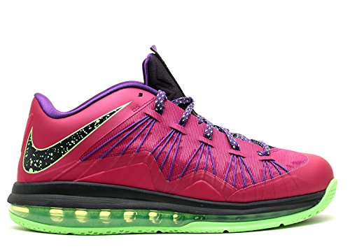 Nike Men's Air Max Lebron X Low Basketball Shoes (11, Raspberry Red/Blueprint-Court Purple-FLS - 579765 - Shoe Raspberry Sport
