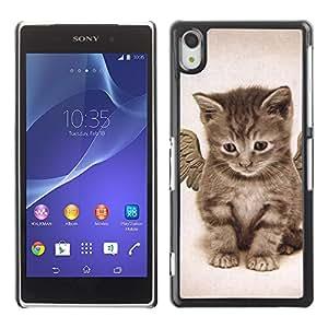 Vortex Accessory Carcasa Protectora Para Sony Xperia Z2 D6502 D6503 D6543 L50T L50U - Angel Kitten Baby Maine Coon -
