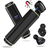 True Wireless Earbuds, Blackview Bluetooth Headphones, Advanced Mini Bluetooth V4.2 Earphones,Stereo Twins Mini Invisible Headset with Portable Charger Built-in Mic for iPad, Smartphones
