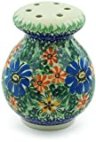 Polish Pottery 4-inch Parmesan Shaker made by Ceramika Artystyczna (Profusion Theme) Signature UNIKAT + Certificate of Authenticity