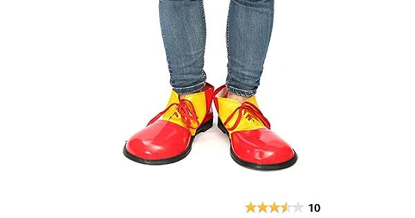 RainbowBeauty 1PC Halloween Clown Schuhe Unisex Adult Jumbo Gro/ßes Clown-Schuhe Halloween-Kost/üme Zubeh/ör f/ür Parteien Cosplay Clown-Schuhe tragen f/ür Erwachsene rot