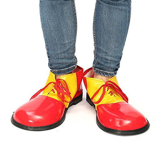 JUIOKK Halloween 1 Pair Adult Clown Shoes Boots Unisex Comedy Fancy Costume Party Events Dress Decoration -