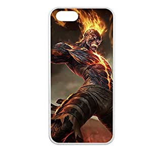 Brand-001 League of Legends LoL case cover for Apple iPhone 5/5S - Rubber White